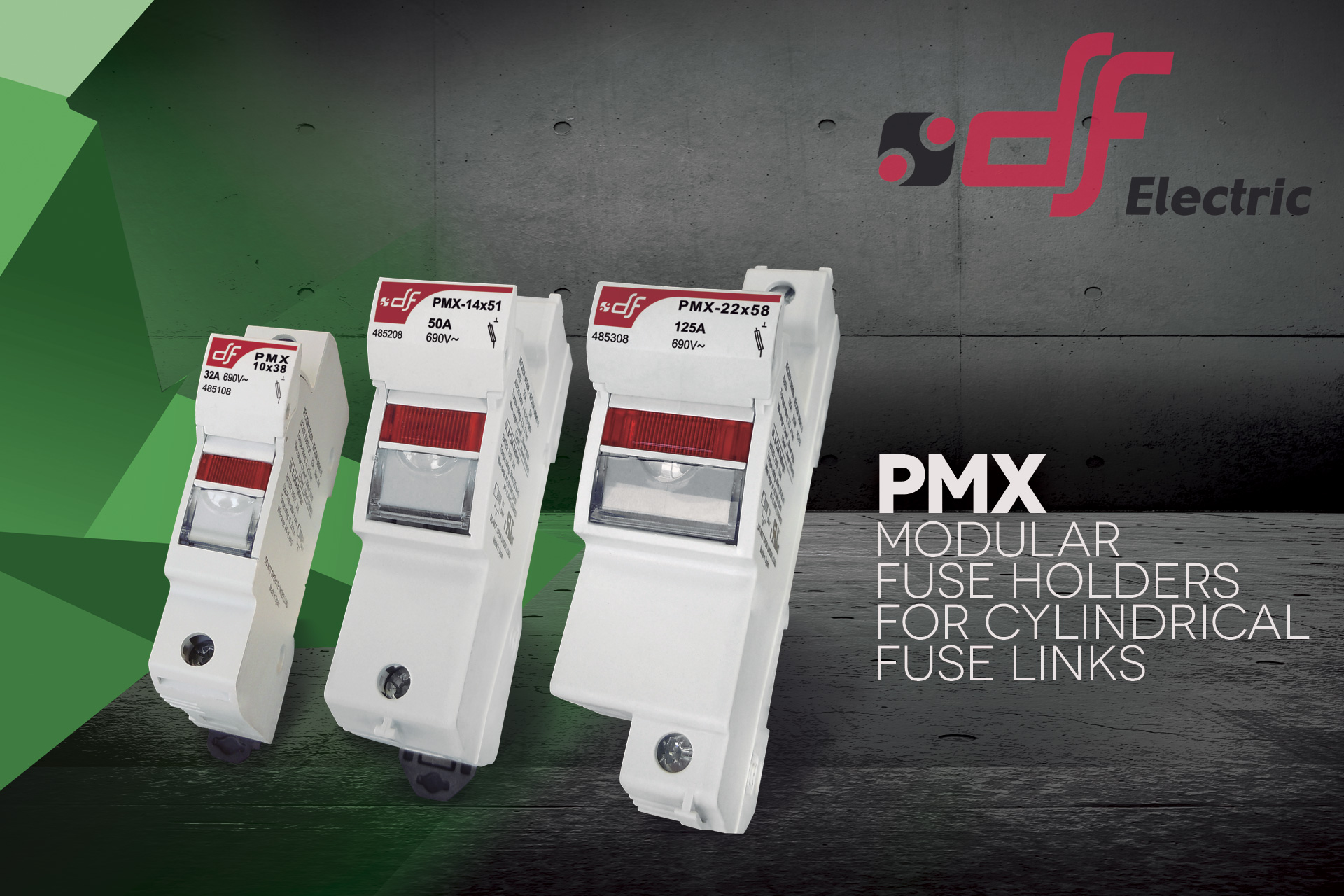 Pmx Industrial Modular Fuse Holders Df Electric Electrical Fuses Circuit Breakers Din Rail Mounted